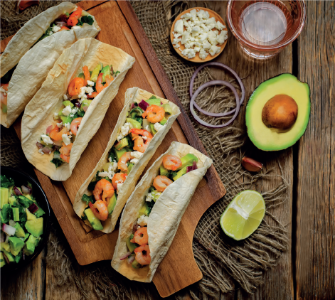 Tacos Avocado & Shrimp