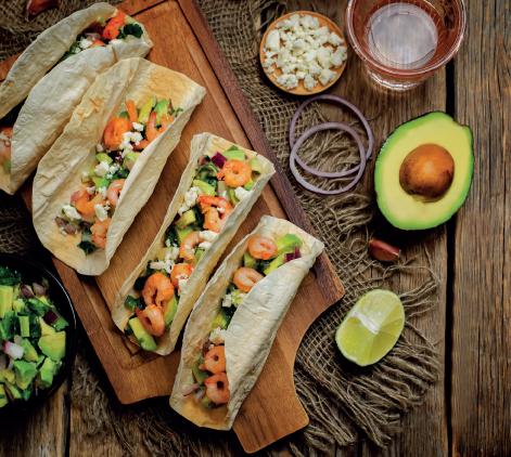 Tacos Avocado e Gamberetti