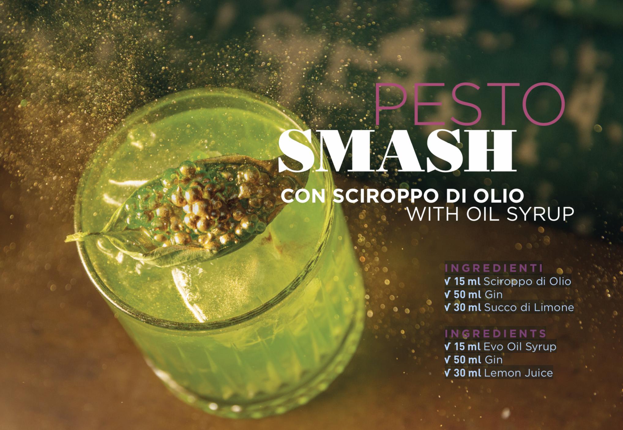 PESTO SMASH CON SCIROPPO DI OLIO