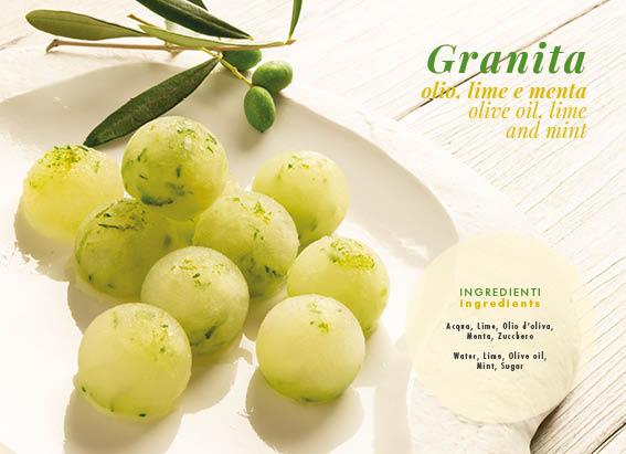Granatina, olio, limone e menta
