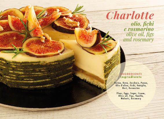 Charlotte, olio, fichi e rosmarino